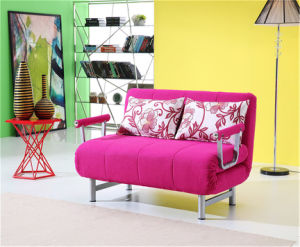 Living Room Furniture Functional Fabric Sofa Bed with Armrest pictures & photos
