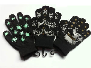 Knitted Acrylic Warm Printed Magic Gloves/Mittens pictures & photos
