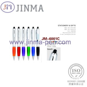 The Promotion Gifts Plastic Ball Pen Jm-6001c with One Stylus Touch pictures & photos