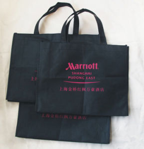 Non-Woven Newspaper Bag with Print Logo pictures & photos