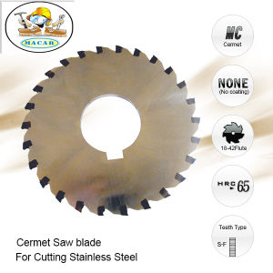 Cermet Brazed Tips Cutting Saw Blade for Cutting Stainless Steel