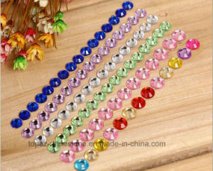 Glass Crystal Strip Sticker Self Adhesive Rhinestone Sticker for Scrapbook (TS-507 colored strip 5mm) pictures & photos