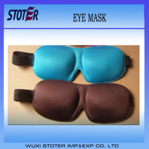 Silk Material 3D Sleep Eye Mask with PU Foam Sleep Earplug pictures & photos