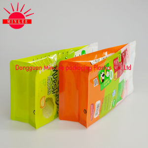 2016 Customized Printed Side Gusset Plastic Food Packaging Bag for Pet Food Packaging/Flat Bottom Bag pictures & photos