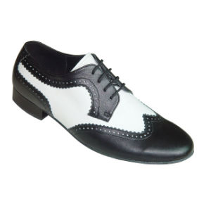 Black&White Leather Men′s Tango/Ballroom Dance Shoes pictures & photos