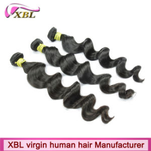 No Chemical Process Virgin Peruvian Hair Natural Black Hair pictures & photos