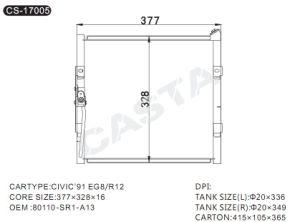 High quality condenser for Honda Civic′91 Eg8/R12 pictures & photos