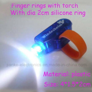 Custom Promotional LED Finger Ring with Logo Printed (4012) pictures & photos