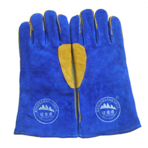 High Quality Industry Safety Working Leather Welding Gloves pictures & photos