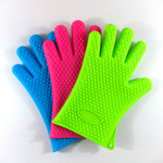 Heart Shape Five-Finger Silicone BBQ Glove Sg10 pictures & photos