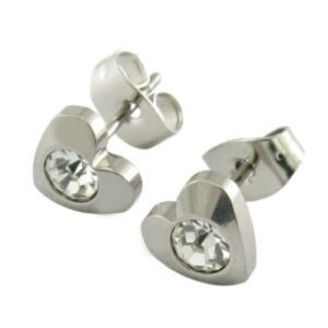 Wholesale Fashion Design 316L Stainless Steel CZ Stud Earrings pictures & photos