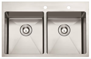 """American Standard Hm3322 32""""X22""""X10"""" Topmount Hand Made Stainless Steel Kitchen Sink pictures & photos"""