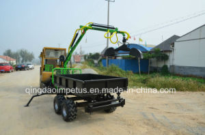 Timber Crane with Tipping Box and Grapple Bucket pictures & photos