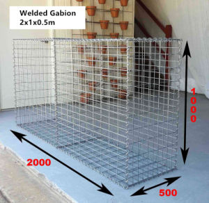 China Manufacturer 2X1X0.5m Welded Gabion Box (WGB) pictures & photos