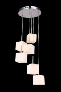 Fashion Glass Hanging Ceiling Pendant Light (KAMD3014RS-6W) pictures & photos