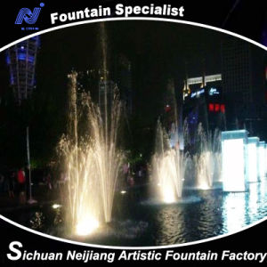 Musical Dancing Fountain with Colorful Lighting