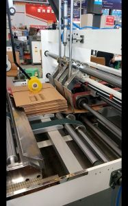 Make Robot Automatic Cardboard Boxes Folding Gluing Machine pictures & photos