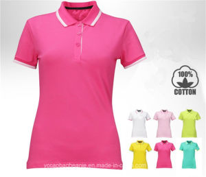 2016 Top Quality Golf T-Shirt Custom Polo for Woman pictures & photos