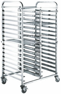 32 Pan Aluminium- Plated Bread Trolley/Cake Trolley/Toast Trolley for Bakery pictures & photos