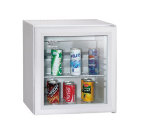 Portable White Glass Door Mini Refrigerator Showcase Office Home Cooler Xc-28 pictures & photos