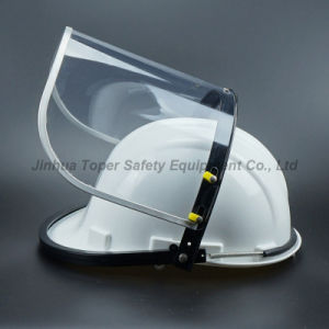 Face Shield with PVC Visor Mounted with Safety Helmet ABS Universal Bracket Screen with Aluminium Border (FS4013) pictures & photos