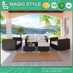 Outdoor Sofa with Cushion Rattan with Sofa Set (Magic style) pictures & photos