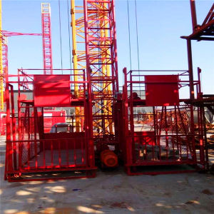 Ss100/100 1ton Double Cage Material Hoist/Construction Lift/Construction Machinery pictures & photos