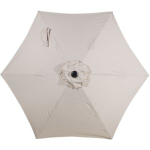Patio 9 FT Market Outdoor Aluminum Table Patio Umbrella with Push Button Tilt and Crank, Beige pictures & photos