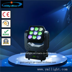 9PCS*10W RGB Matrix 3*3 LED Moving Head Light pictures & photos