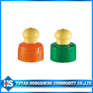 Plastic Push Pull Bottle Cap pictures & photos