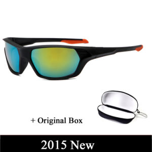 2015 Fashion Big Frame Oversized Retail Sport Outdoor Sunglasses Men Brand Sun Glasses Frogskins Jam Colorful with Box