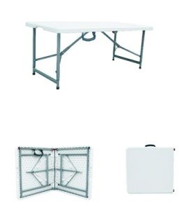 4ft Plastic Outdoor Folding Table pictures & photos