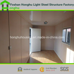 Flat Roof House Villa Prefabricated House Home Container House pictures & photos