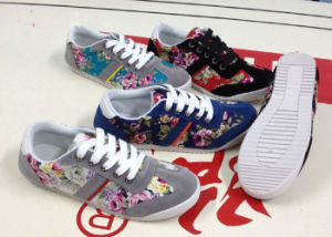 Latest Flower Print Women Shoes Running Shoes Casual Shoes (LG0519-13) pictures & photos