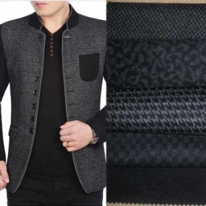 Knitted Jacquard Wool Blend Fabric for Coat and Jacket