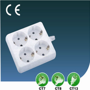 10A Four Ways European Extension Socket