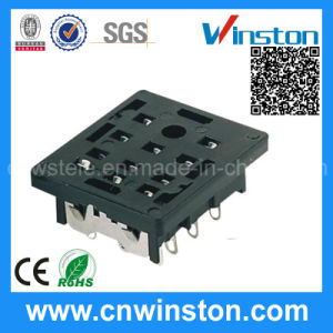 Py-11 General Miniature Black Color Timer Industrial Relay Socket with CE pictures & photos