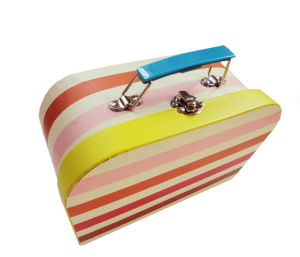 Paper Suitcase Shape Gift Shoe Box with Window pictures & photos