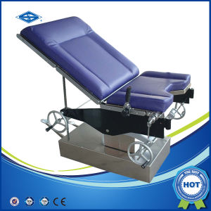 Hot Sales Manual Portable Hydraulic Multifuction Operating Table (HFMPB06A) pictures & photos