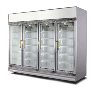 Four Door Beverage Display Freezer pictures & photos