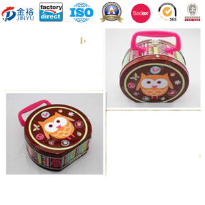 Custom Round Shape Cheap Price Cookies for Dogs Metal Tins pictures & photos