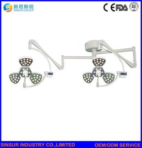 Surgical Instrument Double Dome Ceiling LED Operating Room Surgical Lamps pictures & photos