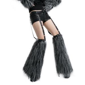 Wholesale Unique Gothic Punk Leather Pants Hairy Leggings (K-147) pictures & photos