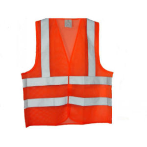 En471 Mesh Fabric High Visibility Reflective Vest (UF261W) pictures & photos