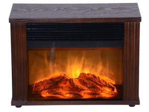 Wood-Electric Mini Fireplace