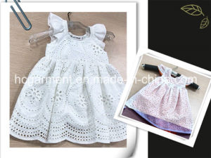 Lovely Suit White Cotton Skirt Dress for Girl/Kids pictures & photos