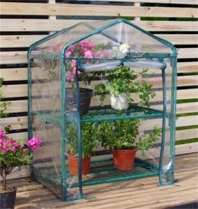2 Tier Mini Greenhouse with PVC Cover