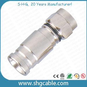 F Compression Connector for RF Coaxial Cable Rg59 RG6 Rg11 (F040) pictures & photos