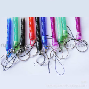 Lastic Spiral Elastic Round String with Keychain pictures & photos