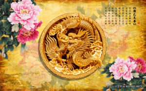 Traditional Chinese Historical Totem Dragon and Phoenix and Auspicious Clouds pictures & photos